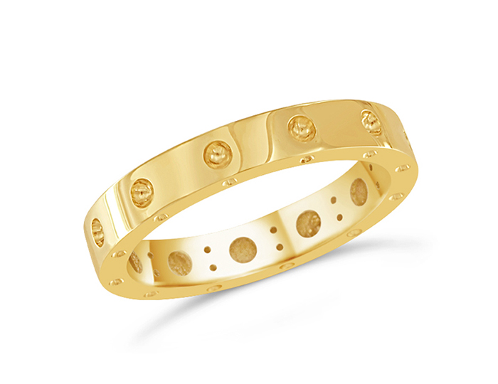 Roberto Coin Symphony Collection ring in 18k yellow gold.