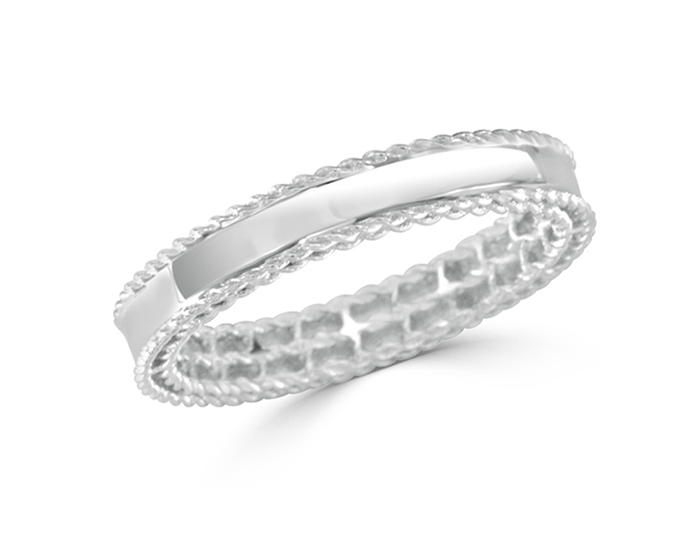 Roberto Coin Symphony Collection ring in 18k white gold.