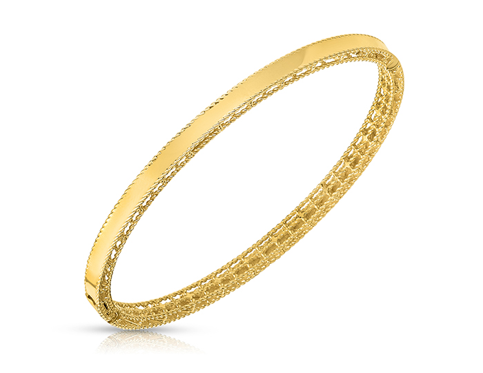 Roberto Coin Princess Collection bracelet in 18k yellow gold.