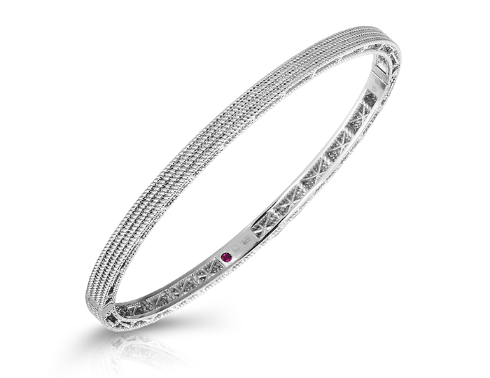Roberto Coin Barocco Collection bracelet in 18k white gold.