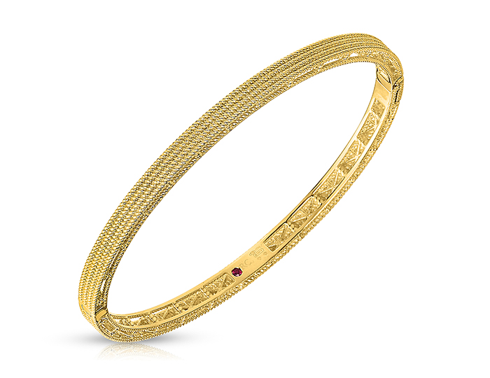 Roberto Coin Barocco Collection bracelet in 18k yellow gold.