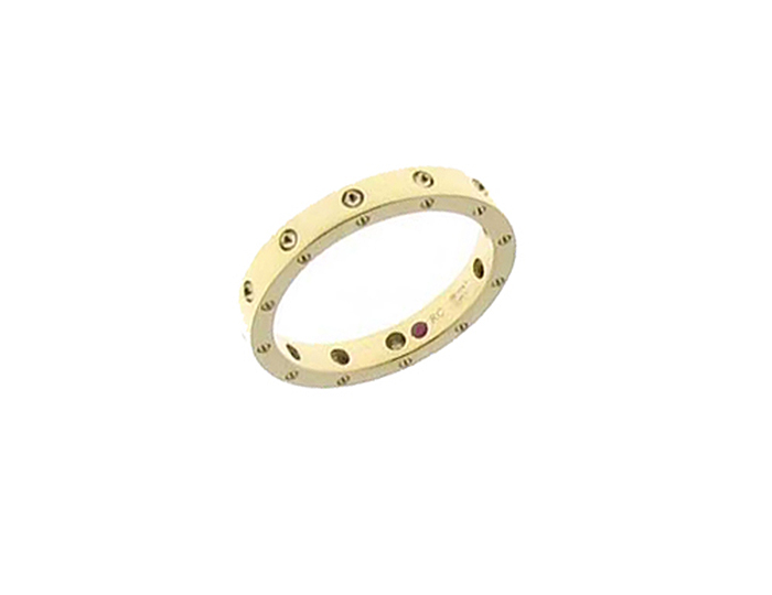 Roberto Coin men's band in 18k yellow gold.