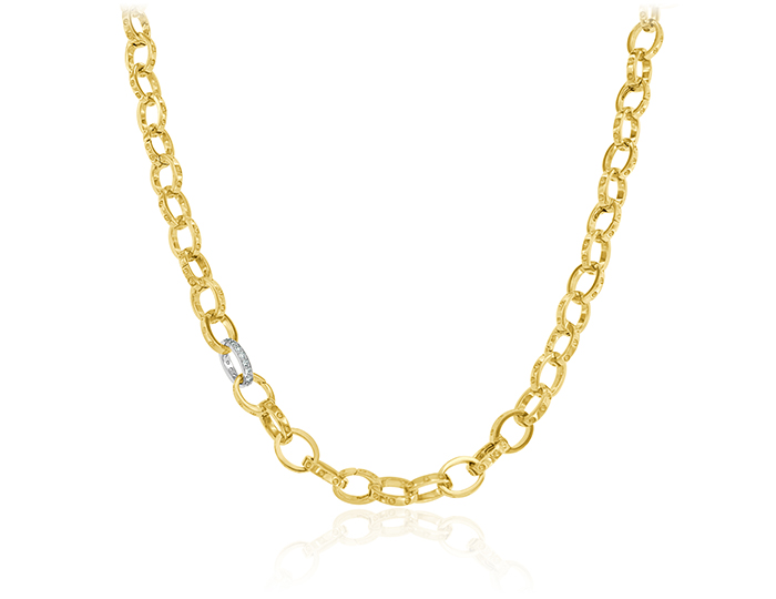 Roberto Coin men's 26' chain in 18k yellow gold.