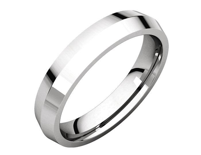 Men's 5mm wedding band in platinum.