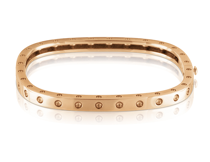 Roberto Coin Pois Moi Collection bracelet in 18k rose gold.