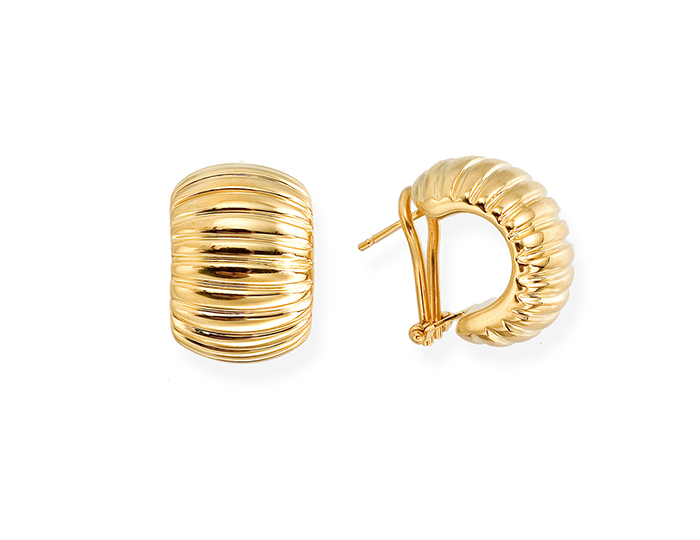 Roberto Coin 18k yellow gold earrings.