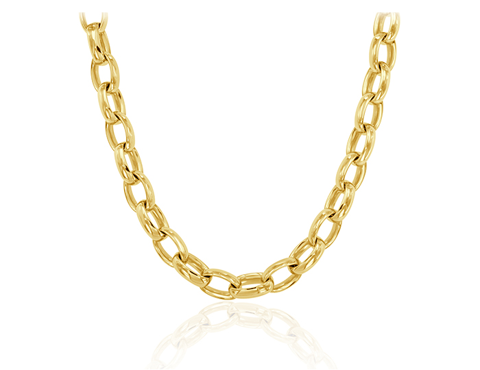 Roberto Coin necklace in 18k yellow gold.