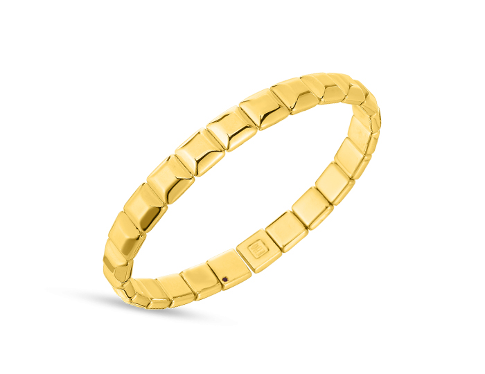 Roberto Coin Collection flexible bracelet in 18k yellow gold.