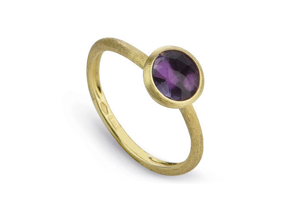 Marco Bicego Jaipur Collection amethyst ring in 18k yellow gold.