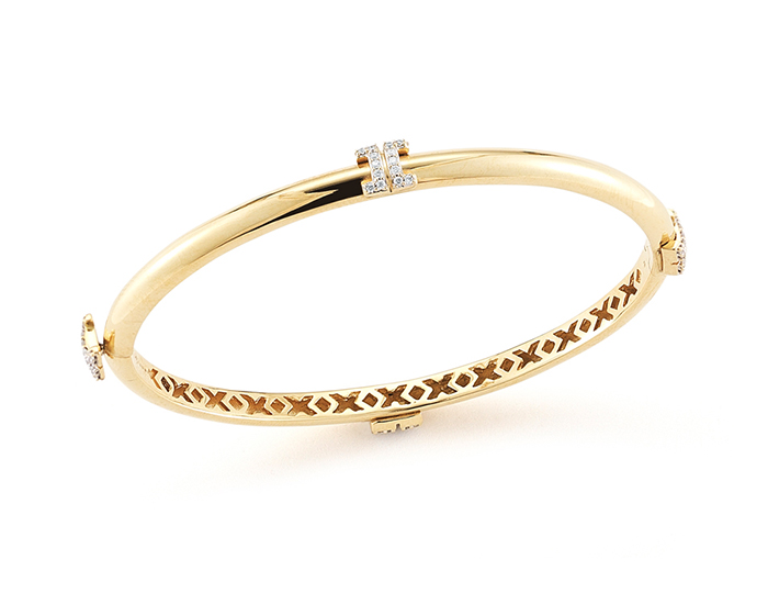 Ivanka Trump Metropolis Sol Collection round brilliant cut diamond bracelet in 18k yellow gold.