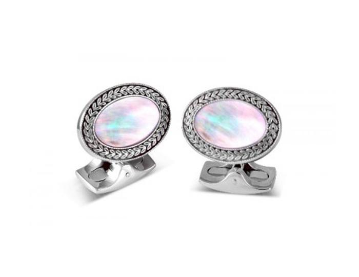 Deakin & Francis mother-of-pearl cufflinks.