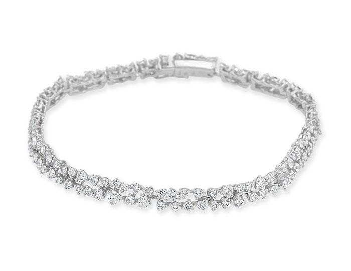 Casoto Maureen Collection round brillant cut diamond bracelet in 18k white gold.