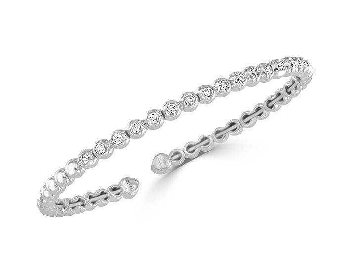 Casato round brilliant cut diamond bracelet in 18k white gold.
