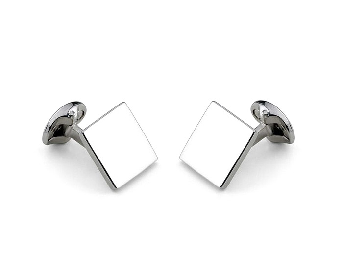 Deakin & Francis square cufflinks in sterling silver.