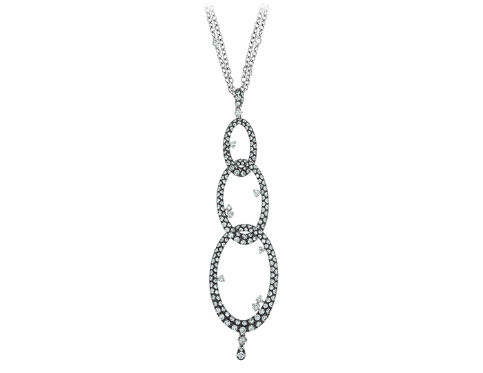 Casato Hold Me Tight round brilliant cut diamond pendant in 18k white gold.