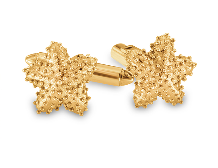 Cufflinks in 14k yellow gold.