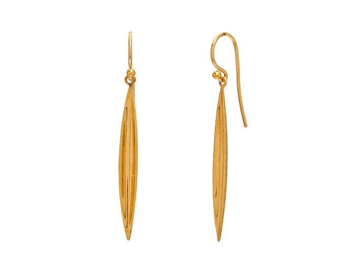 Gurhan Wheat Collection earrings in 22k yellow gold.