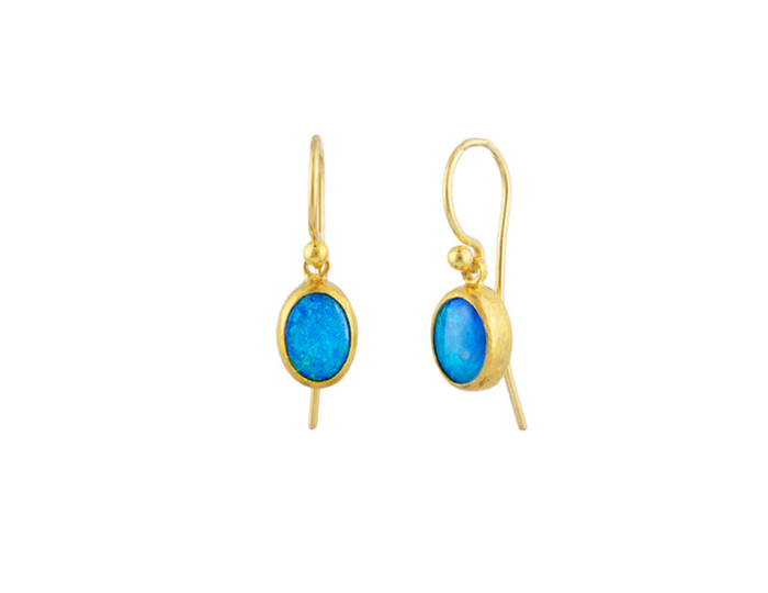 Gurhan Amulet Hue Collection opal earrings in 24k yellow gold.