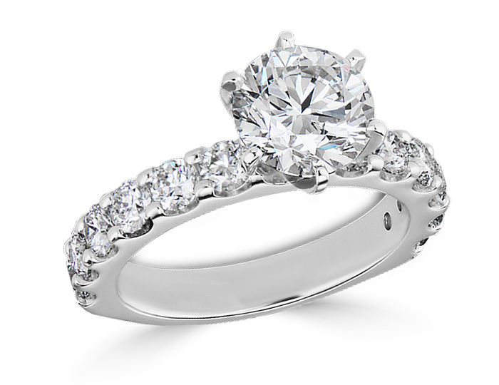 diamond products c shank platinum diamonds split weston ring engagement