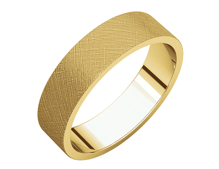 Men's 6mm wedding band in 14k yellow gold.
