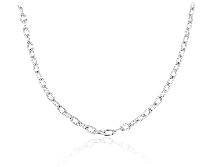 "Men's 22"" chain in 14k white gold."