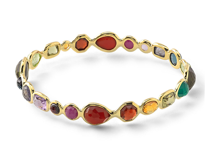 IPPOLITA 18K Rock Candy Bangle in Fall Rainbow.