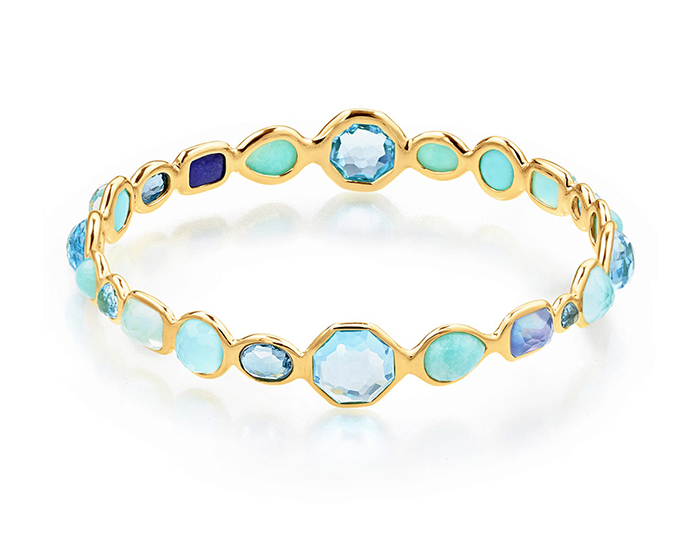 IPPOLITA 18K Gold Rock Candy Bangle in Waterfall.