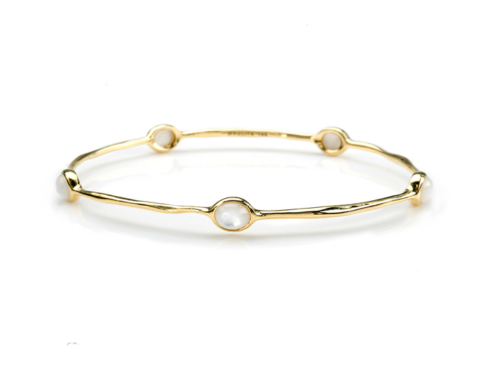 IPPOLITA 18K Gold Lollipop 5-Stone Bangle in Mother-of-Pearl.