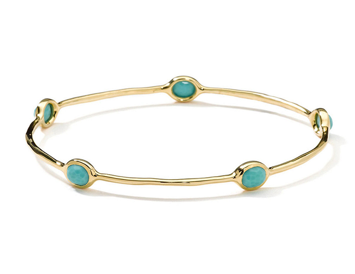 IPPOLITA 18K Gold Lollipop 5-Stone Bangle in Turquoise.