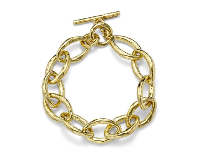 IPPOLITA 18K Gold Glamazon Mini Bastille Link Bracelet.