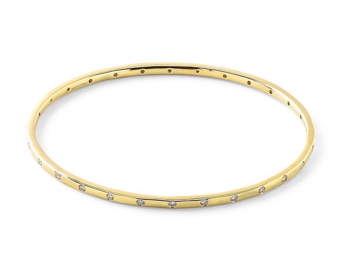 IPPOLITA 18K Senso Thin 28-Stone Bangle with Diamonds.