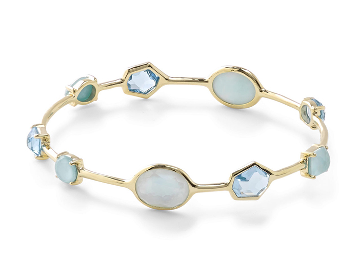 IPPOLITA 18K Gold Rock Candy Multi-Stone Bangle in Waterfall.