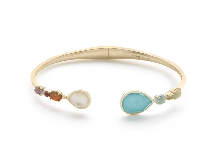 IPPOLITA 18K Gold Rock Candy Bangle in Rainbow.
