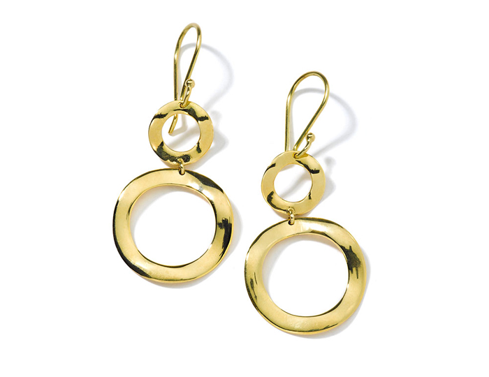IPPOLITA 18K Gold Mini Snowman Earrings.