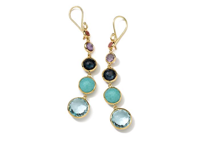 IPPOLITA 18K Gold Rock Candy Lollitini Earrings in Warm Multi Colors.