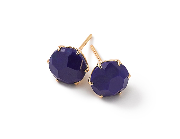 IPPOLITA 18K Gold Rock Candy Medium Round Stud Earrings in Lapis.