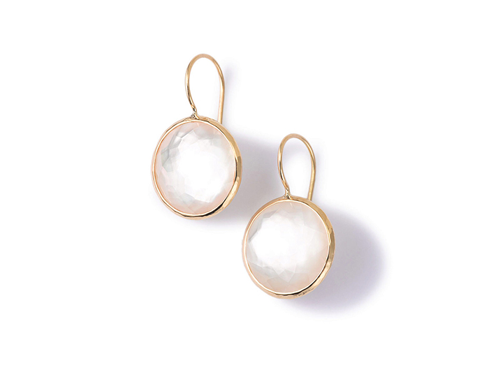 IPPOLITA 18K Lollipop Medium Round Earrings in Mother-of-Pearl Doublet.