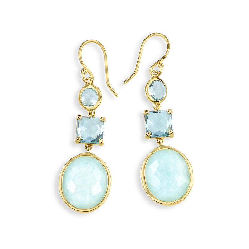 IPPOLITA 18K Rock Candy 3-Stone Drop Earring in Waterfall.
