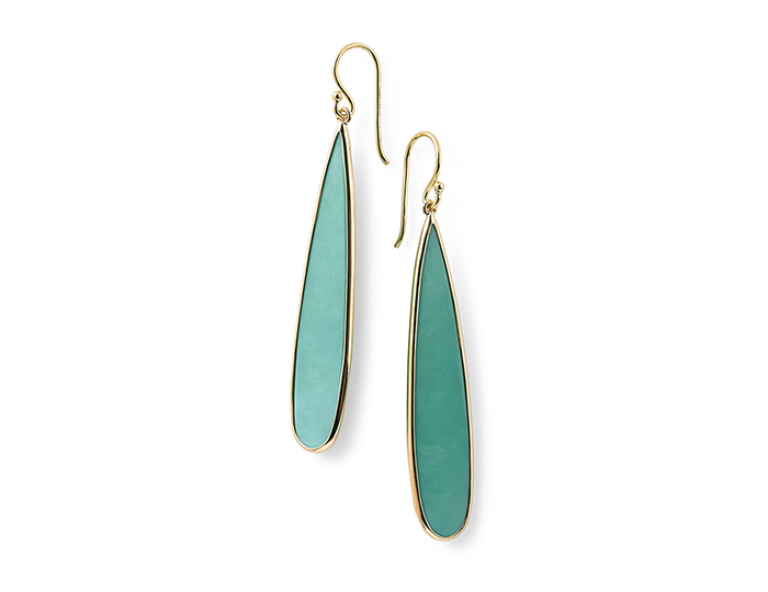 IPPOLITA 18K Polished Rock Candy Long Pear Drop in Turquoise.