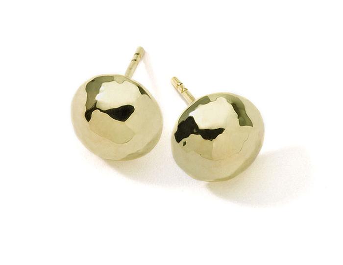 IPPOLITA 18K Gold Glamazon Half Ball Stud Earrings.