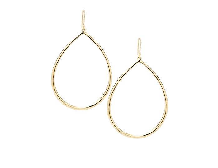 IPPOLITA 18K Gold Glamazon Faceted Large Teardrop Earrings.