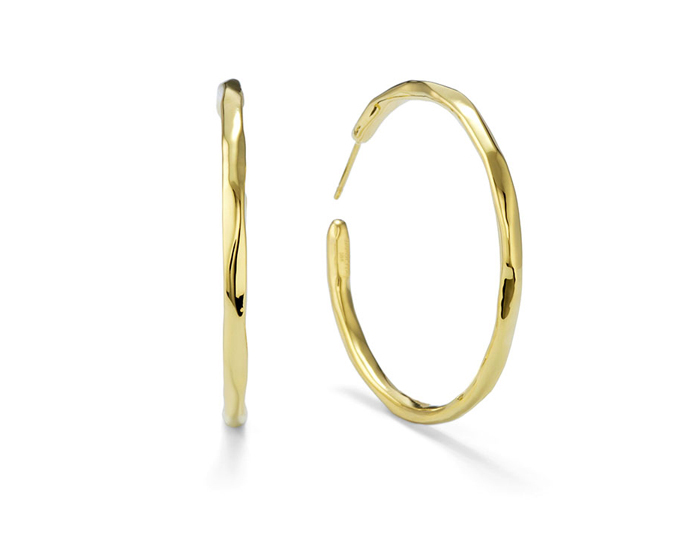 IPPOLITA 18K Gold #3 Glamazon Faceted Hoops.