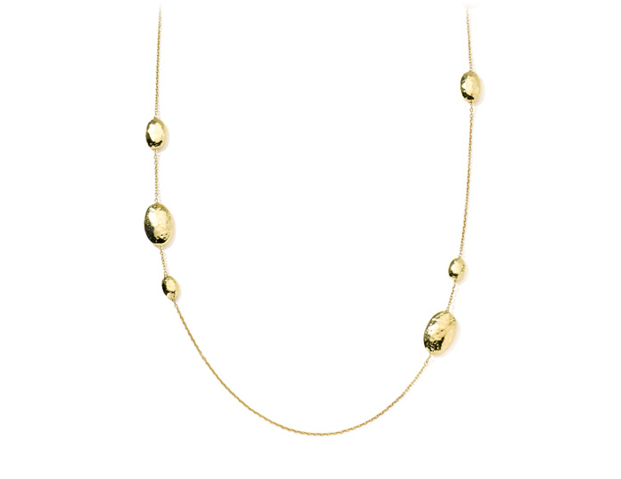 "IPPOLITA 18K Gold Glamazon Oval Station Necklace 36""."
