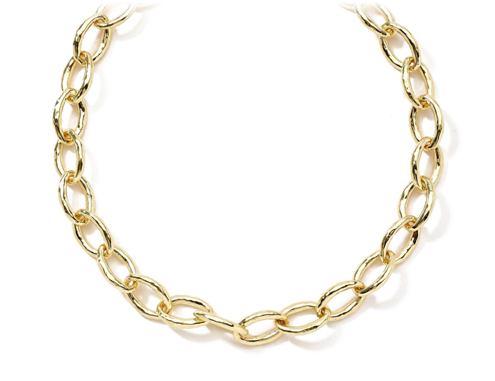 "IPPOLITA 18K Gold Glamazon Bastille Link Chain 18""."