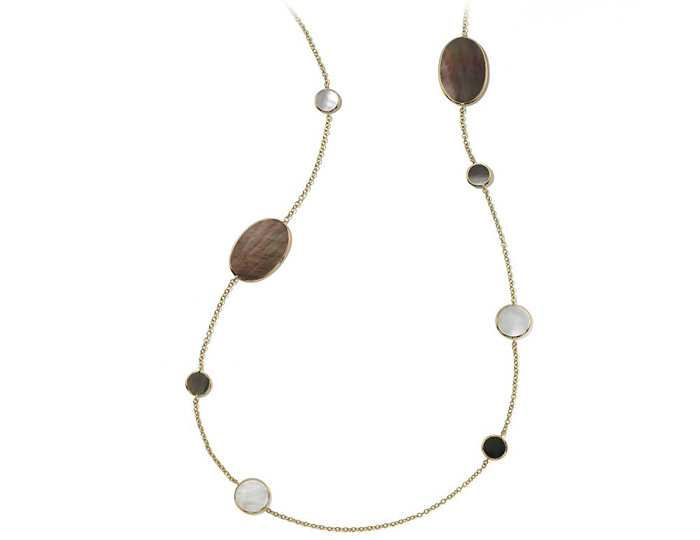 "Ippolita Rock Candy Collection 18k Yellow Gold 37"" Necklace in Sabbia."