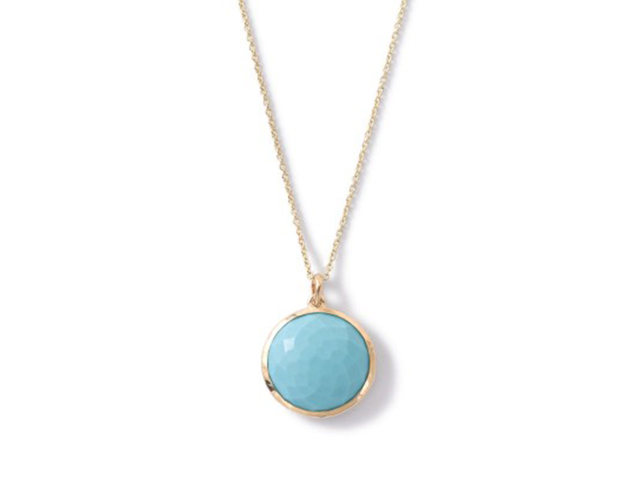 IPPOLITA Lollipop Turquoise Pendant Necklace in 18k Yellow Gold.