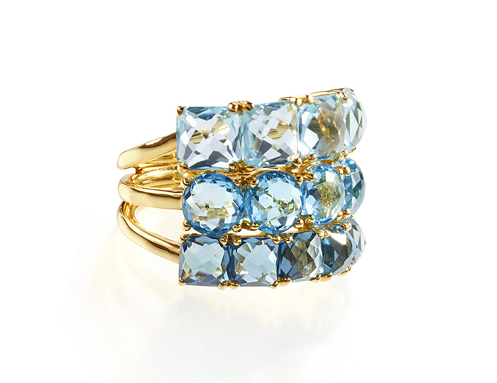 IPPOLITA 18K Gold Rock Candy Cluster Ring in Waterfall.