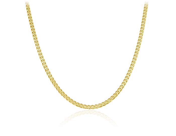 "Men's 24"" chain in 14k yellow gold."