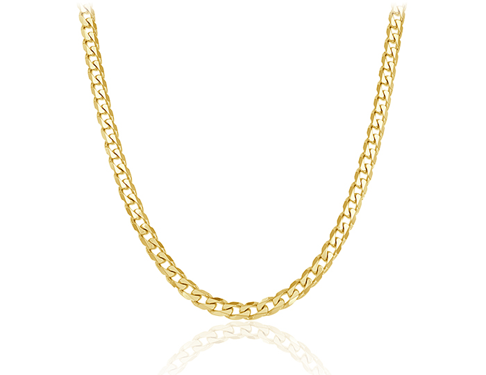 "Men's 22"" chain in 14k yellow gold."