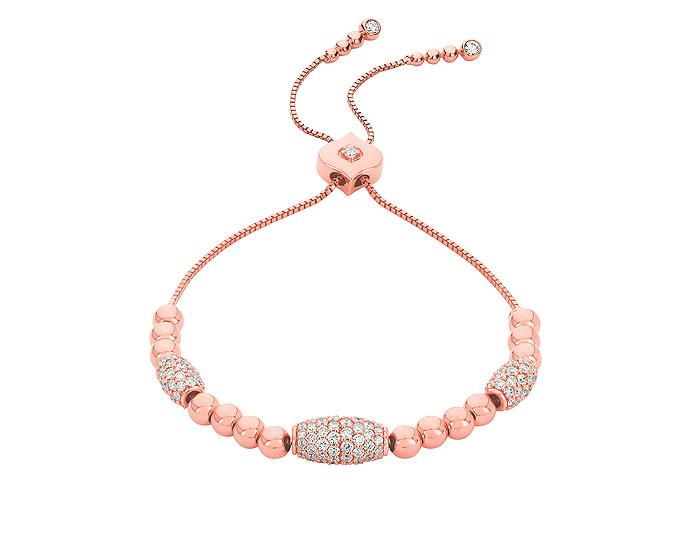 Sara Weinstock Isadora collection round brilliant cut diamond bracelet in 18k rose gold.